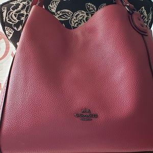 Coach Pink Eddie Shoulder Bag
